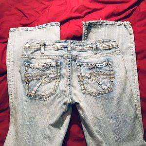 Women's Silver brand Jeans. Light blue